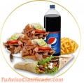 Kebabs de vegetales, pizza turcas y mucho mas
