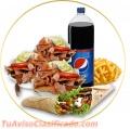 Platos de kebab  con la mejor calidad